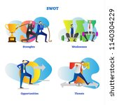 swot analysis vector... | Shutterstock .eps vector #1140304229