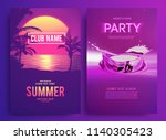retro background futuristic... | Shutterstock .eps vector #1140305423