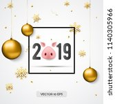 2019 new year greeting card...   Shutterstock .eps vector #1140305966
