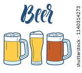 beer line art icons collection... | Shutterstock .eps vector #1140314273