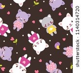 vector seamless pattern with... | Shutterstock .eps vector #1140314720