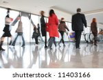 moving crowd. motion blur | Shutterstock . vector #11403166