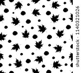 seamless pattern with black...   Shutterstock .eps vector #1140321026