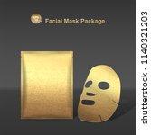 Vector Golden Facial Mask And...