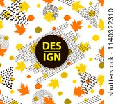 autumn poster. sales background ...   Shutterstock .eps vector #1140322310