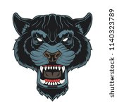 angry panther head. vector... | Shutterstock .eps vector #1140323789
