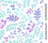 seamless pattern with leaf.... | Shutterstock .eps vector #1140324050