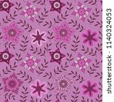 vector floral seamless pattern. ... | Shutterstock .eps vector #1140324053