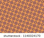 a hand drawing pattern made of... | Shutterstock . vector #1140324170