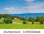 view of farms in the rural... | Shutterstock . vector #1140326666