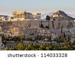 Parthenon And Acropolis In...
