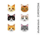 vector of a cat face design.... | Shutterstock .eps vector #1140342266
