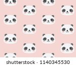 cute panda character pattern....   Shutterstock .eps vector #1140345530