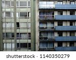 view of residential flats in... | Shutterstock . vector #1140350279
