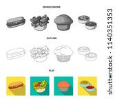 food  rest  refreshments  and... | Shutterstock .eps vector #1140351353