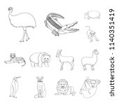 different animals outline icons ...   Shutterstock .eps vector #1140351419