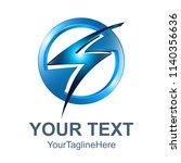 3d circle electric danger light ... | Shutterstock .eps vector #1140356636