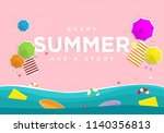 summer event background with... | Shutterstock .eps vector #1140356813