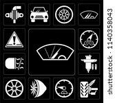 set of 13 simple editable icons ...   Shutterstock .eps vector #1140358043