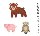 toy animals cartoon icons in...   Shutterstock .eps vector #1140358820
