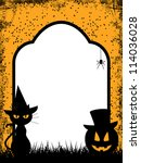 halloween background with black ... | Shutterstock . vector #114036028
