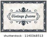 decorative frame in vintage... | Shutterstock .eps vector #1140368513
