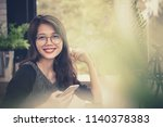 toothy smiling face of younger... | Shutterstock . vector #1140378383