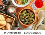 traditional turkish dolma ... | Shutterstock . vector #1140380009