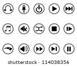 media buttons icon | Shutterstock .eps vector #114038356