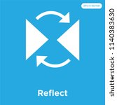 reflect vector icon isolated on ... | Shutterstock .eps vector #1140383630