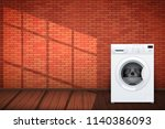 laundry room interior with... | Shutterstock .eps vector #1140386093