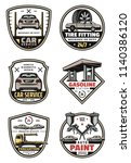car auto service icons for... | Shutterstock .eps vector #1140386120