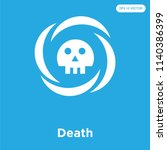 death vector icon isolated on... | Shutterstock .eps vector #1140386399
