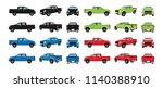 set cars red black blue and... | Shutterstock .eps vector #1140388910
