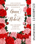 engagement party invitation... | Shutterstock .eps vector #1140389123
