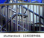 steel structure of the overpass | Shutterstock . vector #1140389486