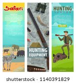 hunting open season banners for ... | Shutterstock .eps vector #1140391829