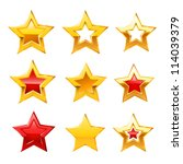 stars set. vector | Shutterstock .eps vector #114039379