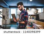 professional male it developer...   Shutterstock . vector #1140398399