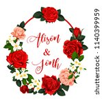 save the date wedding greeting... | Shutterstock .eps vector #1140399959