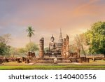 sukhothai historical park  the... | Shutterstock . vector #1140400556