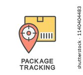 icon package tracking. tracking ... | Shutterstock .eps vector #1140404483