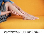young asian girl suffering from ...   Shutterstock . vector #1140407033