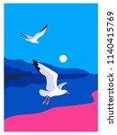 sea background. sea coast  noon ...   Shutterstock .eps vector #1140415769