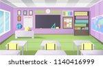 empty school class room with... | Shutterstock .eps vector #1140416999