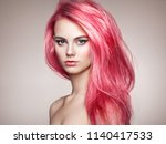 beauty fashion model girl with... | Shutterstock . vector #1140417533