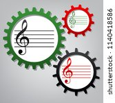 music violin clef sign. g clef. ...   Shutterstock .eps vector #1140418586