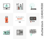 modern flat icons set of... | Shutterstock .eps vector #1140419030