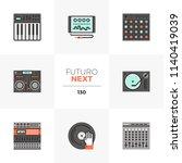 modern flat icons set of sound... | Shutterstock .eps vector #1140419039