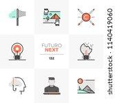 modern flat icons set of... | Shutterstock .eps vector #1140419060